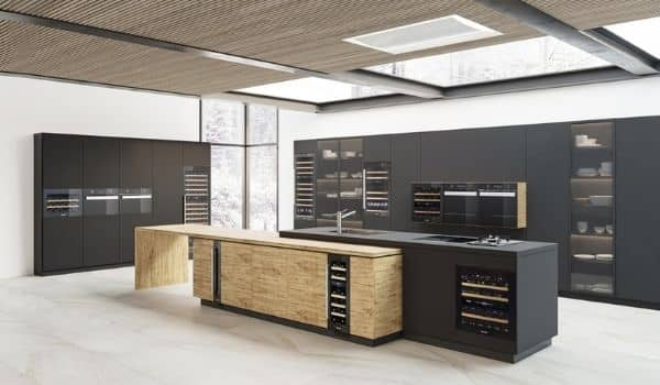 Kitchen Design Trends-wine cabinet